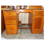 Solid Oak Desk with Dovetail Drawers
