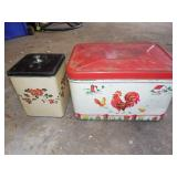 Vintage Tin Bread Box, Canister
