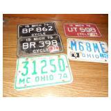 Asst Vintage Motorcycle Plates