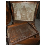 Insdie View Wooden Chest w/ Tray