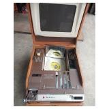 Vintage Dukane Film Strip Viewer & 45 Record Player