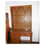 Wooden Desk w/ Hutch
