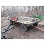 Hay Wagon with back standard
