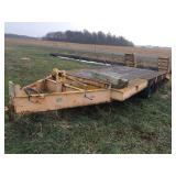 9 Ton 18 ft. x 8 ft. tri axle trailer