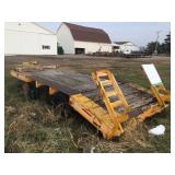 Trailer w/ beaver tail and ramps