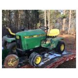 "165 JD tractor w/36"" deck 42"" blade"