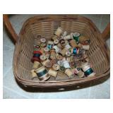wood thread spools