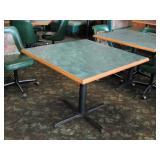 Square Dining Tables, metal pedestal base,