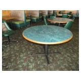 "Round tables, 48""w, 30""h, total count 3"