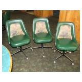 Padded rolling chairs,