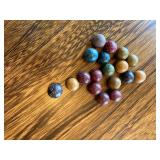 Wood marbles