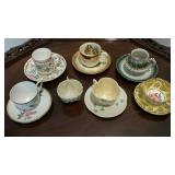 Cups & Saucers,  6 sets & 1 extra cup