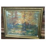 Heery Oil Painting in gold tone frame