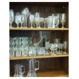 Beer glasses, pitcher, stir stick, goblets