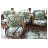 Rattan patio chairs with cushions (4)