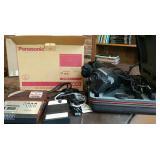 Panasonic tape recorder & GE Video Camera