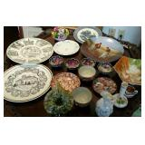 Porcelain plates, vases, cups, collector plates