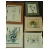 Water color paintings or pen & ink  (5)