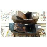 Hand Wood Block plane, curved and flat bottom