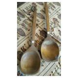 Wood Spoons, (2) Large wall hanging decorations