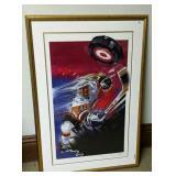 Bill Hall Hockey Lithograph, #153/400, signed