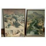 Paintings of scenes in Persia, artist signed