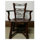 Romweber Viking Oak Horse Head Chair
