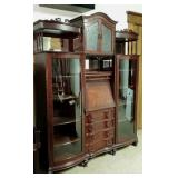 China cabinet mirrors, shelves, blind & glass door