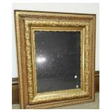 Rectangle gold ornate picture frame
