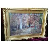 F. J. Girardin oil painting in gold ornate frame