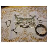 Sterling jewelry,  bracelets, necklace and