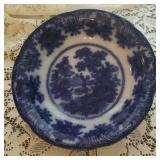 Flow blue bowl,  Adam