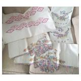 3 sets pillow cases with handwork