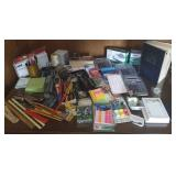 Office supplies, stapler, tags, labels, rulers