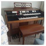 Wurlitzer Electric Organ with bench,