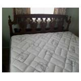 Queen size bed with headboard