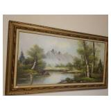 """Burke painting on canvas wood frame,  55"""" by 32"""""""
