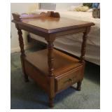 Tell City lamp table with drawer #8514