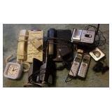 Telephones, clock, Emachine speakers
