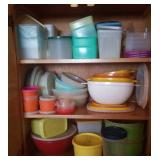 Tupperware bowls, canisters and storage containers