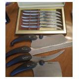 Steak knives and kitchen knives