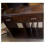 """Wood shelf with drawer 26"""" by 23"""" by 12"""""""