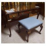 American Drew desk/ vanity and stool