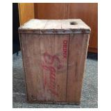 Squirt wood crate. 12 x 16 x12