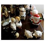 Salt and pepper shakers,  9 sets
