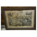 Antique print of Conemaugh Valley Disaster 1889.