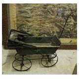Antique doll buggy, canopy does not work