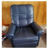 Blue leather Lazy Boy  recliner rocker
