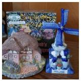 Delft windmill, Olde England cottage