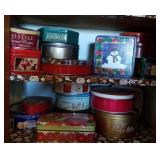 Decorative and holiday tins